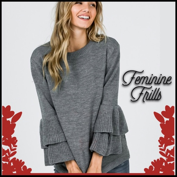 afb741c9cc898 Feminine Frills Sweater